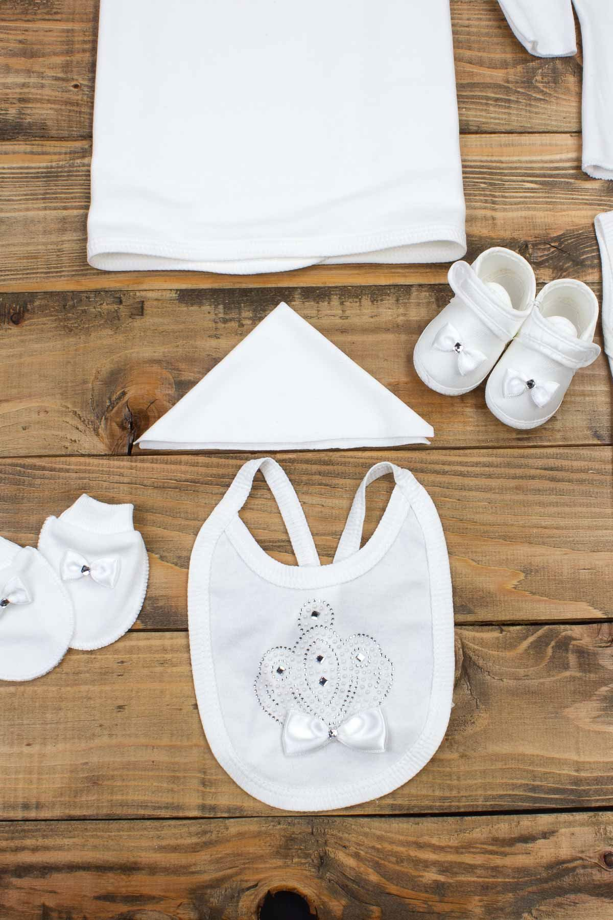 Beyaz Yenidoğan 10 lu Taçlı Bebek Hastane Çıkışı