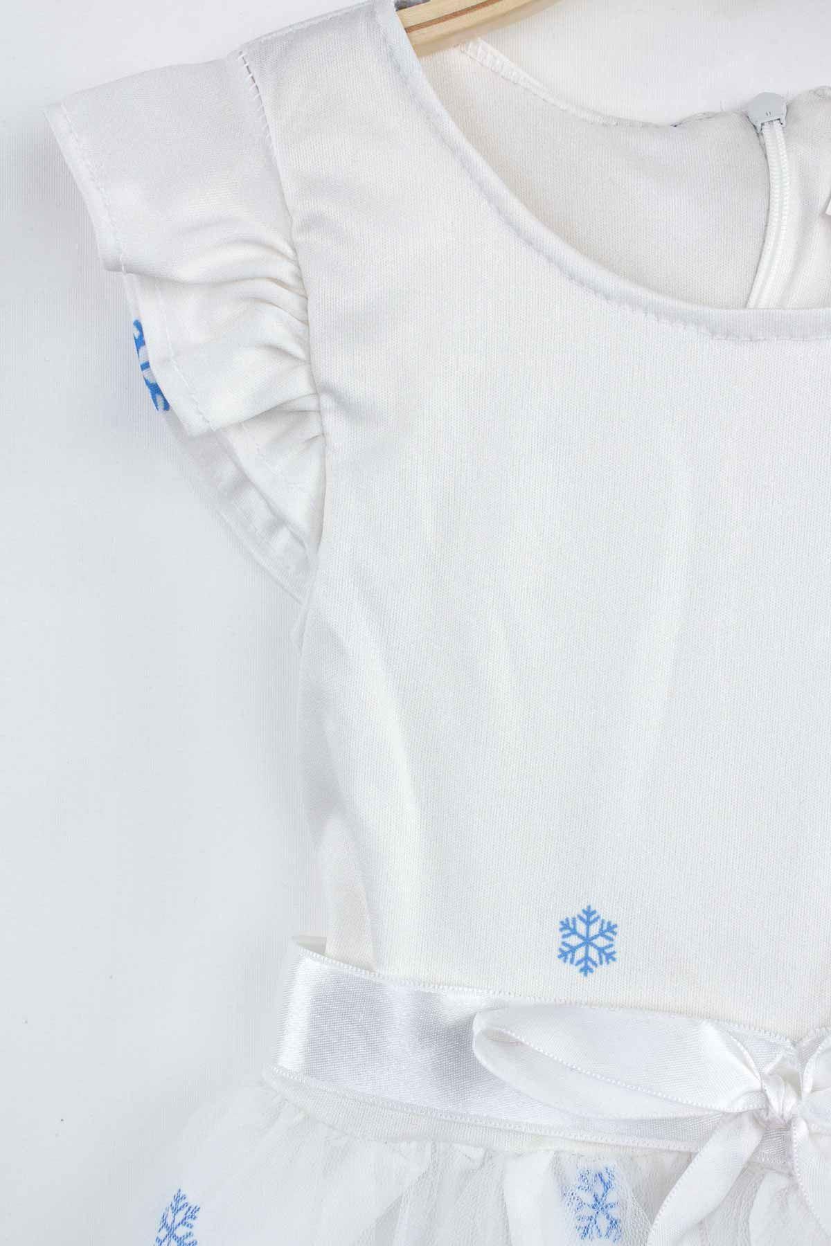 Beyaz Kız Çocuk Tüllü Elbise