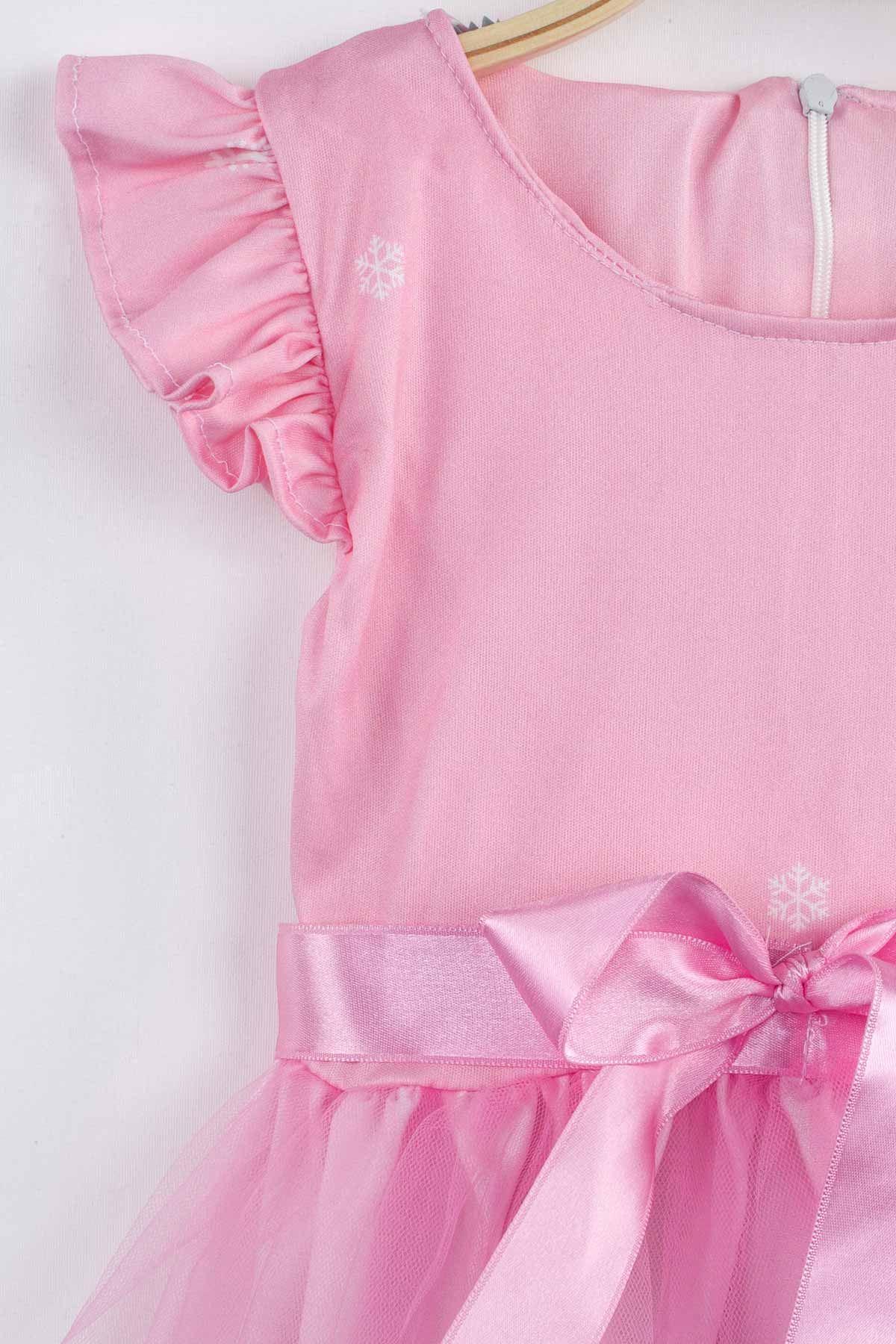 Pembe Kız Çocuk Tüllü Elbise