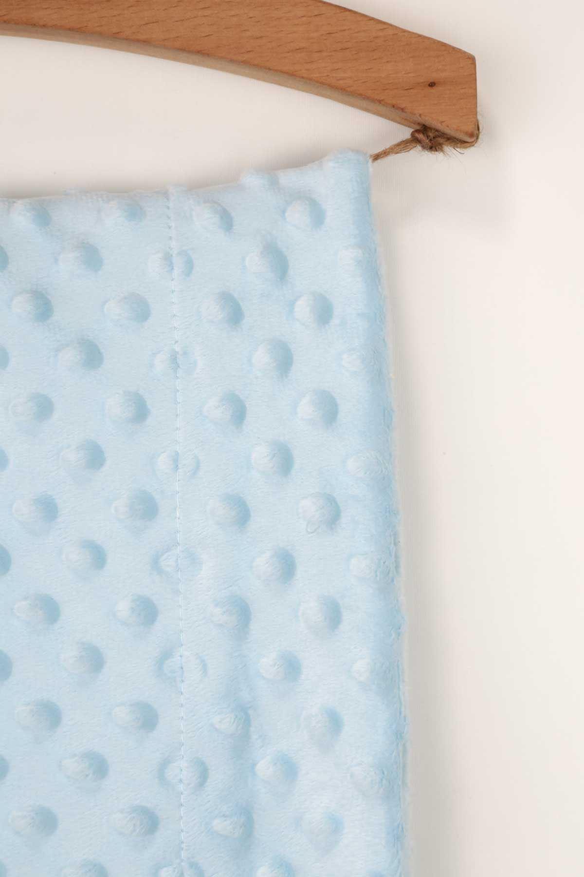 Mavi 85x90 cm Nohut Desen Bebek Battaniye
