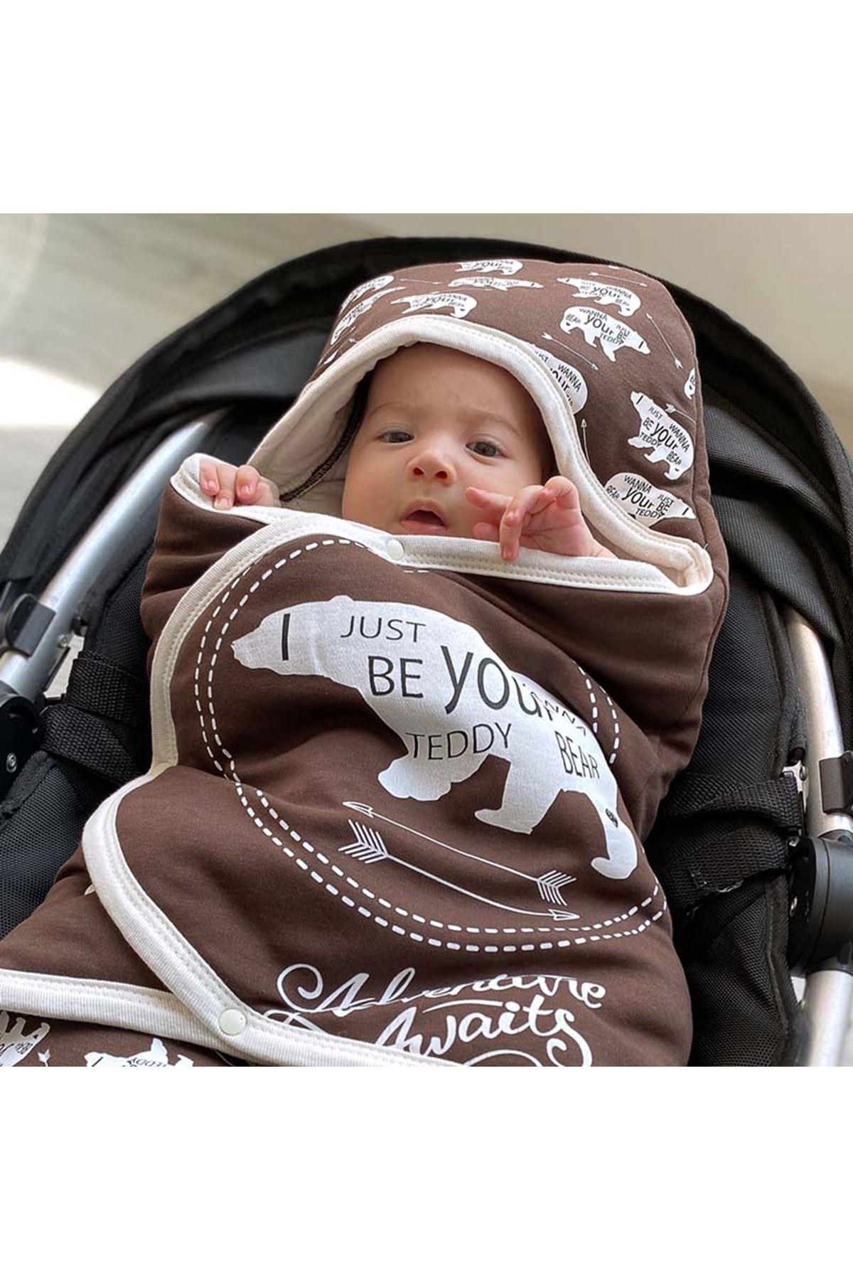 Kahverengi Macera Ayısı Bebek Kundak Alt Açma