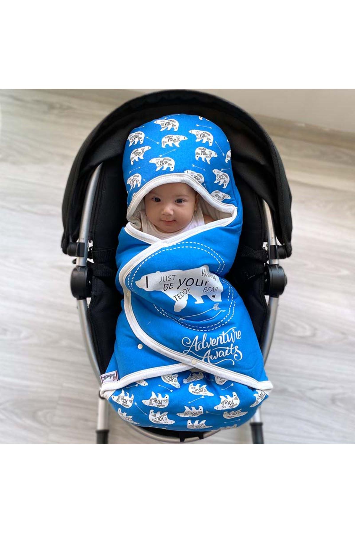 Mavi Macera Ayısı Bebek Kundak Alt Açma