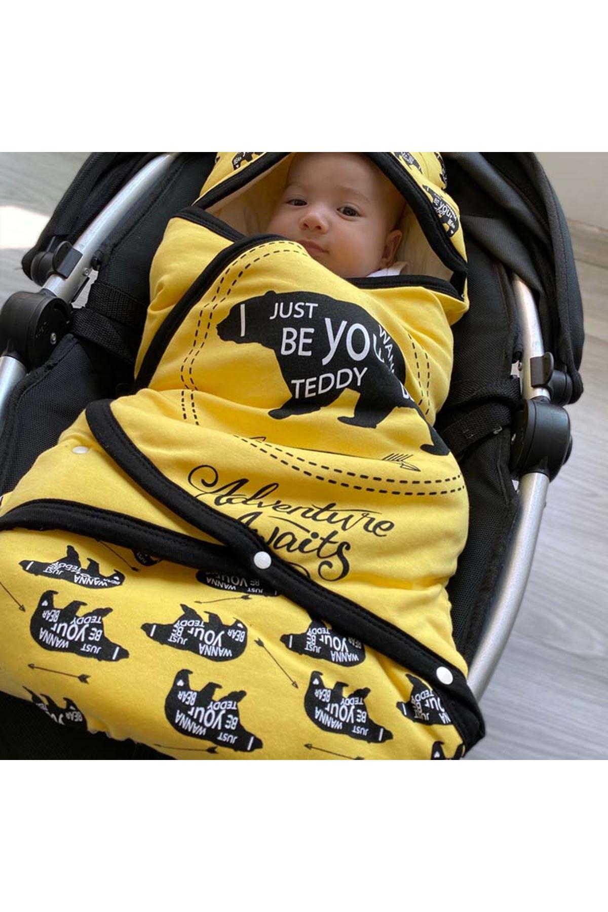 Sarı Macera Ayısı Bebek Kundak Alt Açma