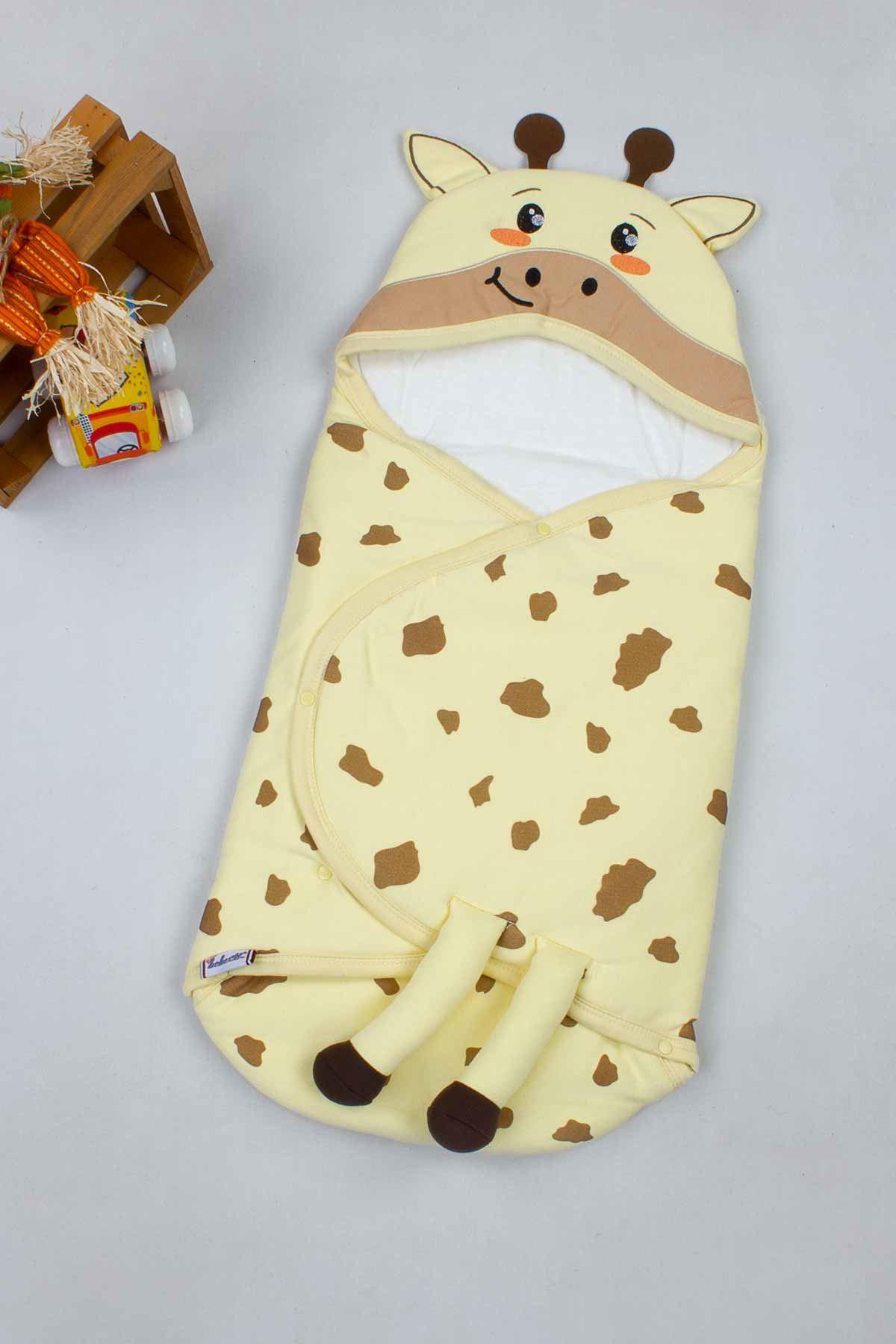 Sarı Zürafa Figürlü Bebek Kundak Alt Açma