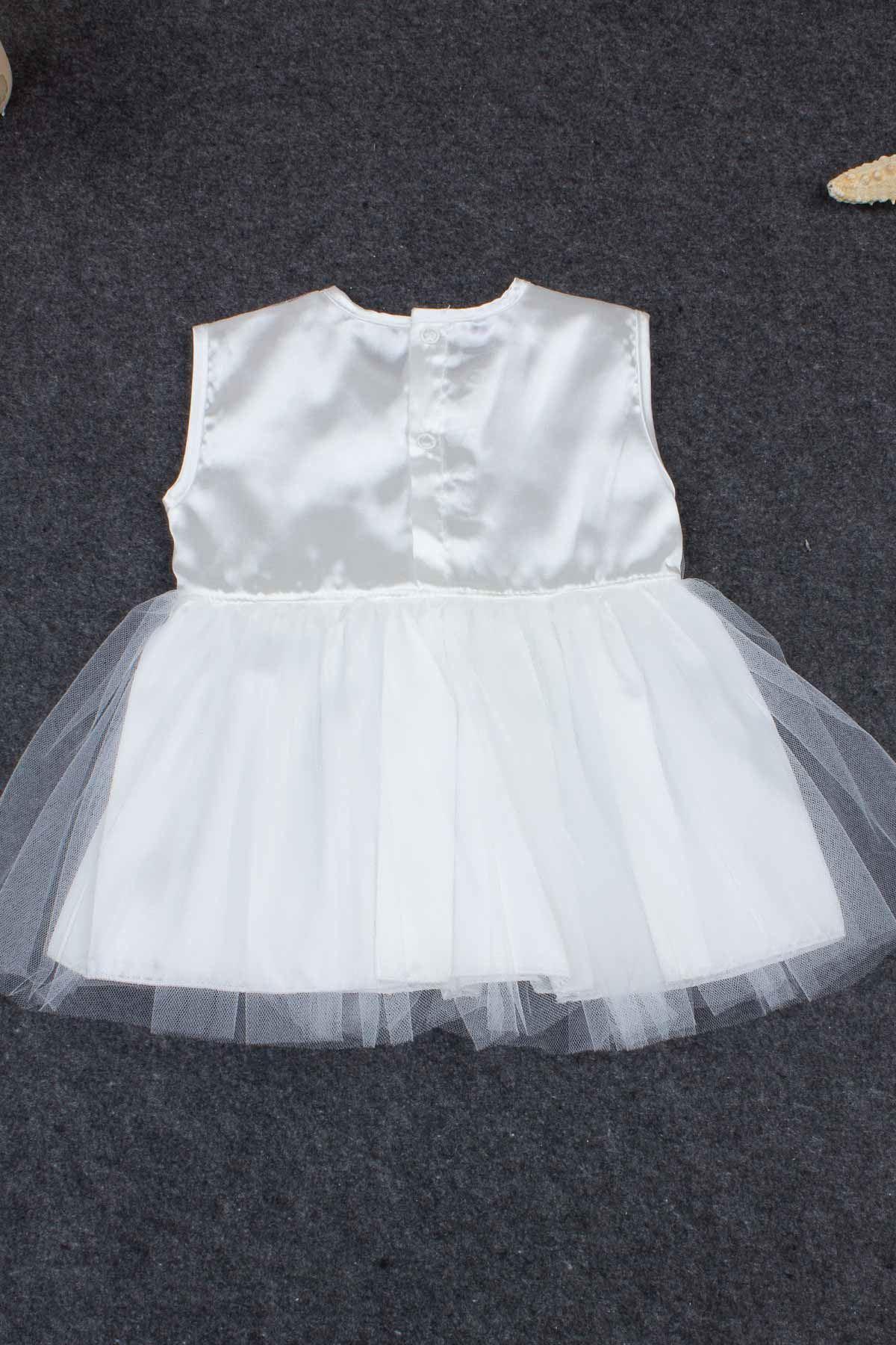Beyaz Kız Bebek Elbise Mevlüt Takım